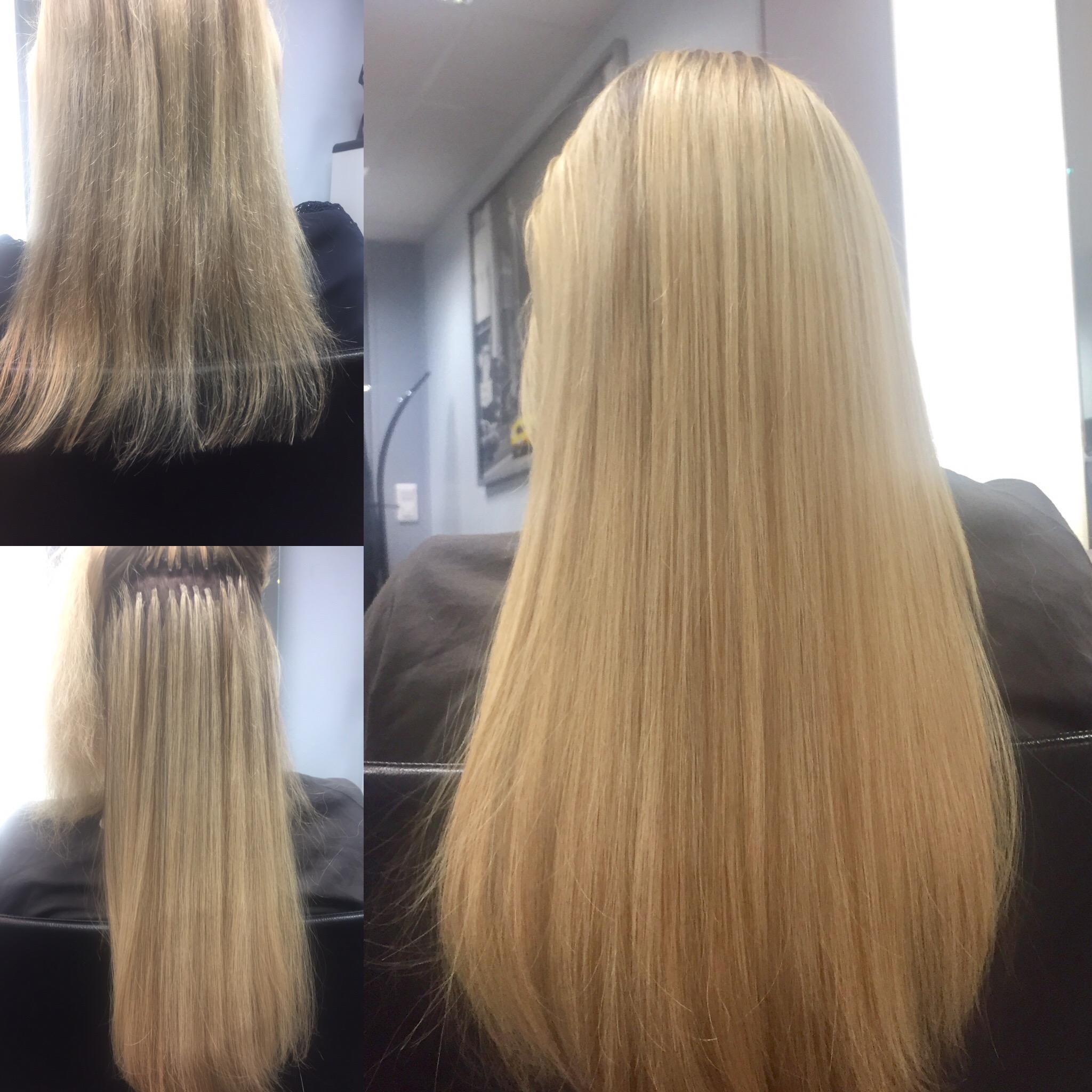 Studio hair nails avant apres extensions cheveux for Extension maison avant apres
